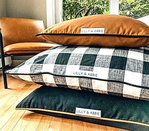 custom dog bed pillows