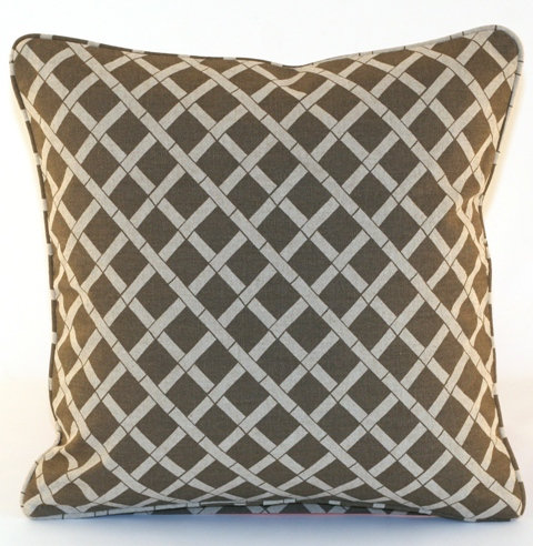 Lattice Throw Pillow Cover