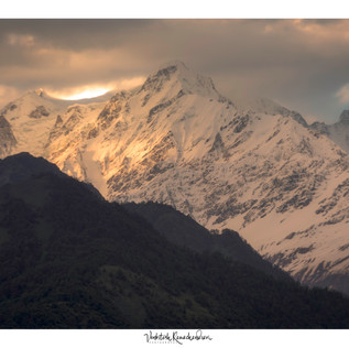 Sunset reflection on Peak