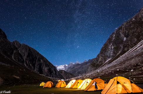 The night view on the camp