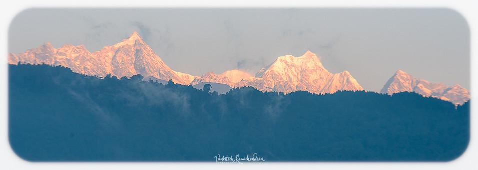 A view from Hotel Balcony - Gangtok