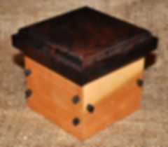 Small Cherry Box with Walnut Lid