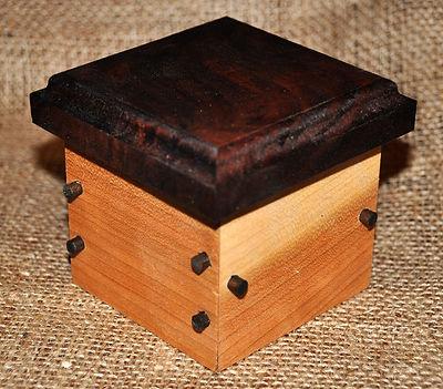 Small Cherry Box with Walnut Lid