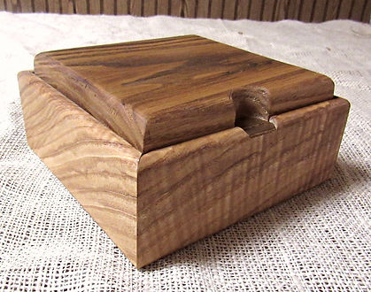 Curly Ash Lift Lid Keepsake Box with Leather Lining