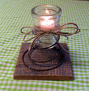 Insulator Cap Candle Holder