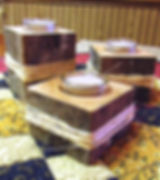 Reclaimed Barn Beam Tea Light Holders