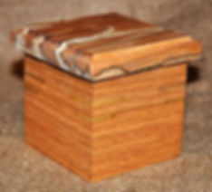 Small Red Oak Box with Spalted Maple Lid