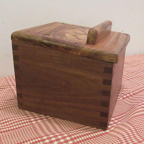 Walnut Recipe Box with Wormy Chestnut Lid
