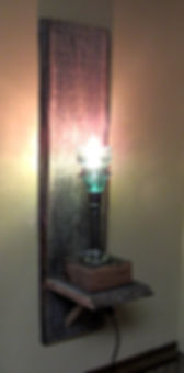 Barnwood and Insulator Hanging Lamp