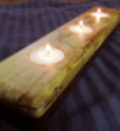 Walnut and Spalted Maple Candle Runner