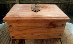 Cherry Keepsake Box with Leather Hinges