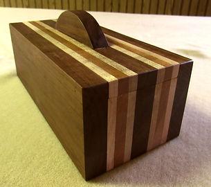 Walnut, Curly Maple, and Cherry Keepsake Box