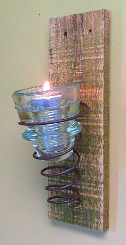 Insulator Cap Wall Sconce