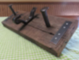 Railroad Hardware Coat Rack
