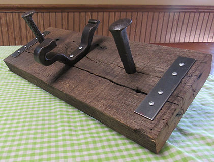Railroad Hardware Coat Rack