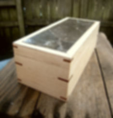 Maple Keepsake Box with Marble Lid and Black Walnut Lining