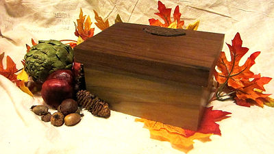 Rainbow Polar Keepsake Box with Walnut Lid and Leather Hinges