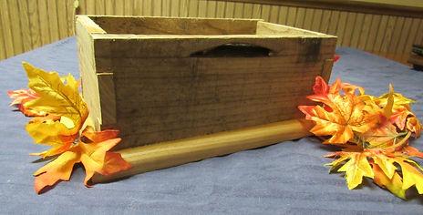 Oak Pallet Box with Hickory Base