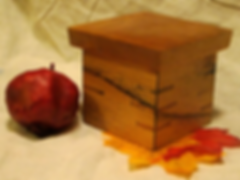 Small Oak Box with Cherry Lid