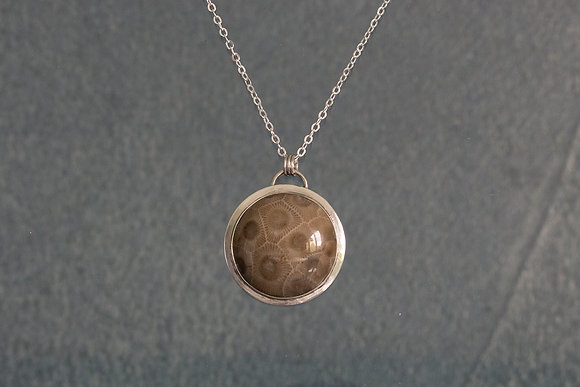 """""""All things must pass"""" Petoskey Necklace"""