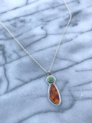 """""""Shine"""" Amber & Turquoise Necklace"""