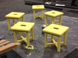 stools in progress