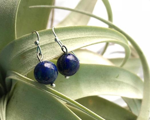 Lapis Lazuli Bead Earrings