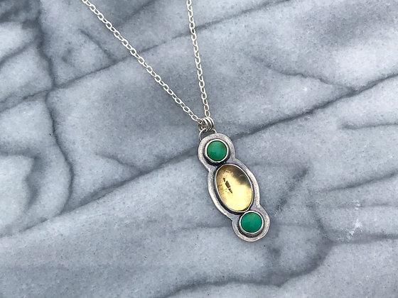 Citrine & Turquoise Necklace