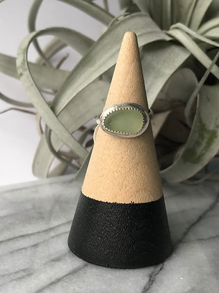 Beach Glass Ring, Size 7.5
