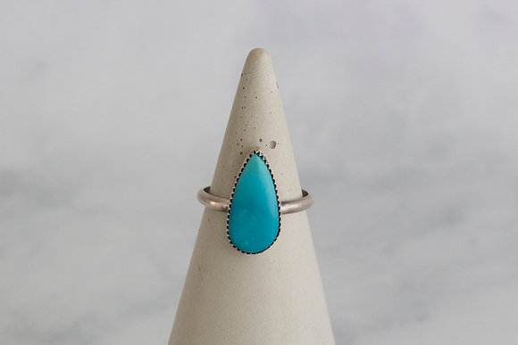 Teardrop Turquoise Ring, Size 9.5