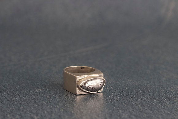 """Native Silver """"Hope"""" Hollow Form Ring, Size 5.5"""