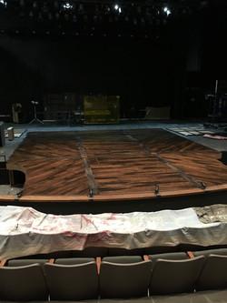 Floor panels installed