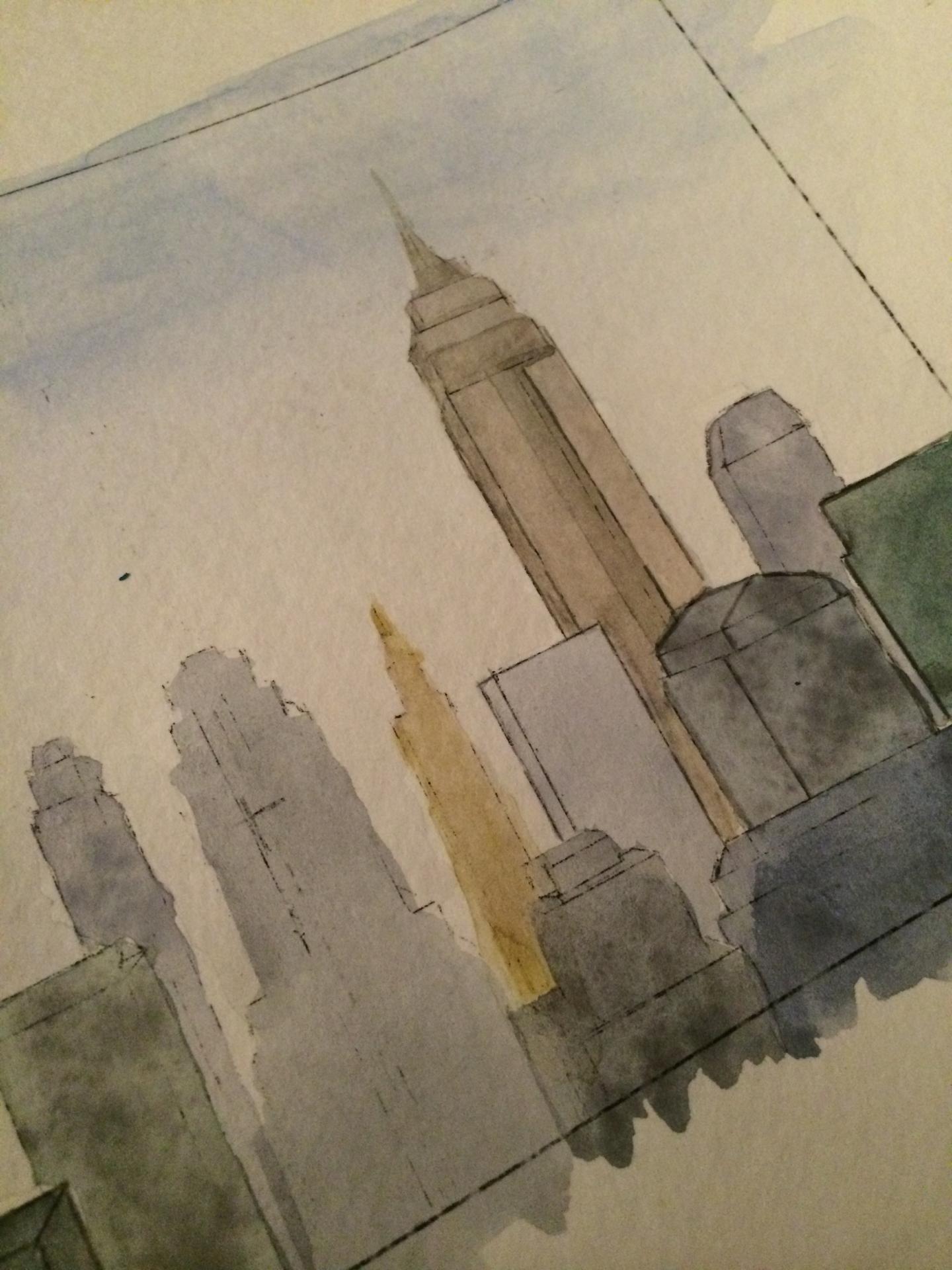 skyline rendering in process