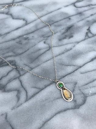 """""""Shine"""" Citrine & Turquoise Necklace"""