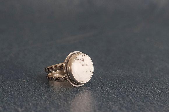 White Buffalo Ring, Size 8.25