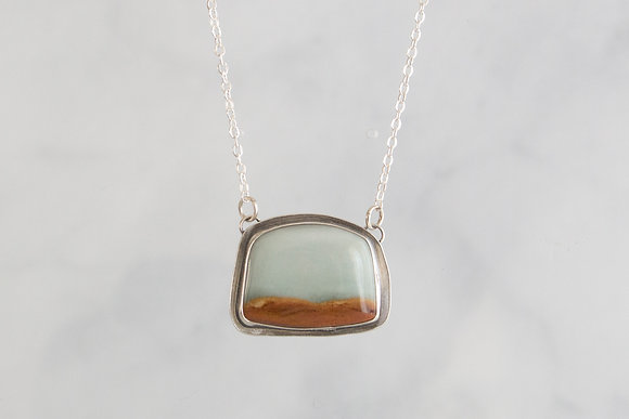 """Breathe"" Landscape Jasper Necklace"