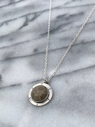 """Wander"" Petoskey Necklace"