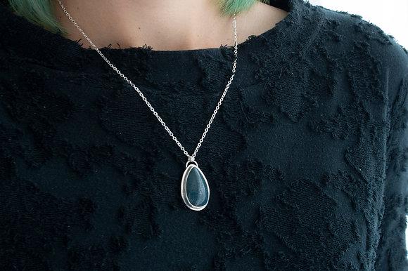 """""""Peace"""" Teardrop Leland Blue Necklace"""