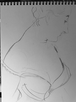 study of Madame X, after Sargent