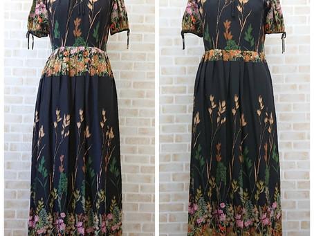 裾にデザインのあるスカートやワンピースの丈つめ