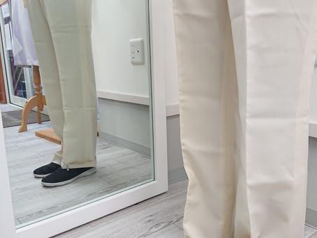 パンツ丈つめの採寸方法