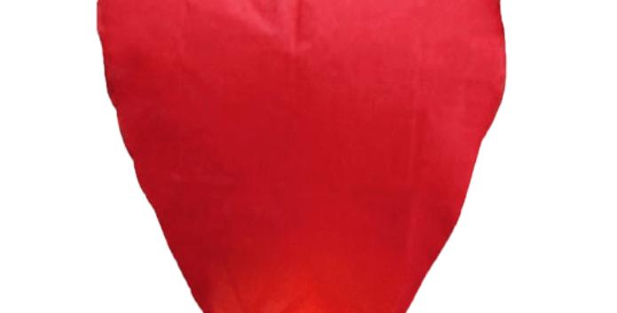 Sky Lantern Heart Shape