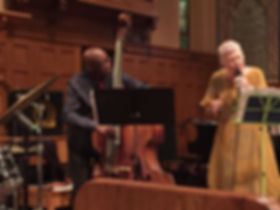 W/ReggieWorkman at Middle Collegiate Church, NYC