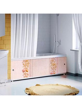 """Экран под ванну """"Оптима DECOR"""" 1,5 м пластик (036Н Морские ракушки)"""