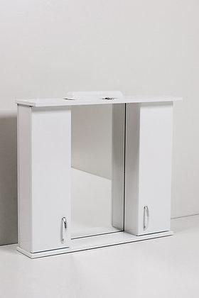 Зеркало-шкаф Панда 800 (2 шкафа) со светильником