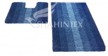 Набор ковриков д/в SHAHINTEX MULTIMAKARON 60*90+60*50 синий