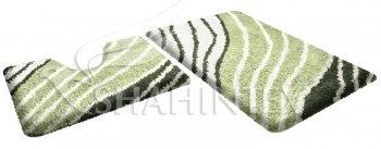 Набор ковриков д/в SHAHINTEX SOFT multicolor 60*90+60*50 малахит