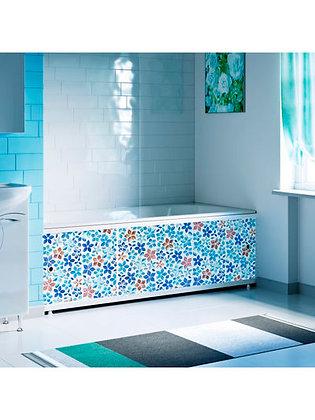"Экран под ванну ""Оптима DECOR"" 1,7 м пластик (035Н Мозаика синяя)"