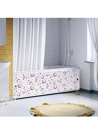 """Экран под ванну """"Оптима DECOR"""" 1,7 м пластик (044Н геометрия круги лиловые)"""