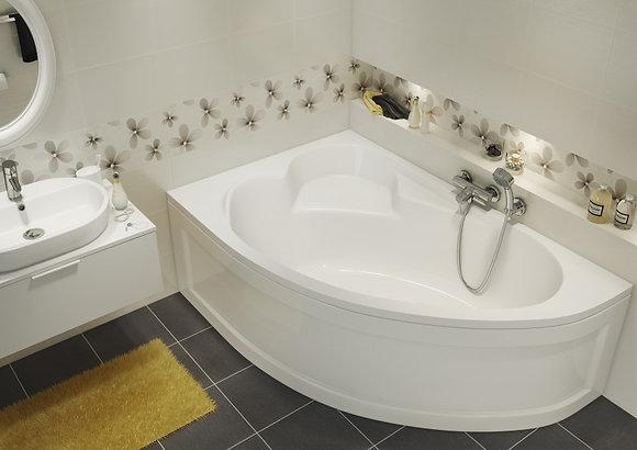 Ванна асимметричная KALIOPE 170x110, правая, белый